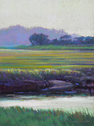 Tidal River Pastels - Scorton Banks by Ed Chesnovitch