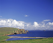 Cliffs Over Ocean Metal Prints - Scotland Shetland Islands Eshaness Cliffs Metal Print by Anonymous