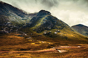 Gloomy Framed Prints - Scotland the Brave. Glencoe Framed Print by Jenny Rainbow
