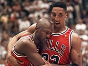 Bulls Photos - Scottie Pippen and Michael Jordan by Sanely Great