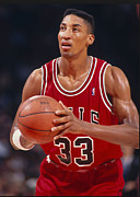 Bulls Photos - Scottie Pippen by Sanely Great