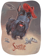Scottie Painting Posters - Scotties Beaming Poster by Shawn Shea