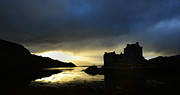 Panoramic Digital Art Originals - Scottish castle by Lilianna Sokolowska