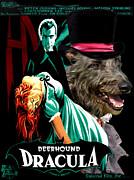 Scottish Deerhound Art - Dracula Movie Poster Print by Sandra Sij