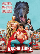 Scottish Deerhound Art - Nacho Libre Movie Poster Print by Sandra Sij