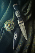Sandra Cunningham - Scottish dirk and celtic pin brooch on plaid