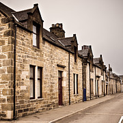 Linked Framed Prints - Scottish houses Framed Print by Tom Gowanlock