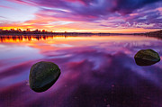 Lanarkshire Prints - Scottish Loch at Sunset Print by John Farnan