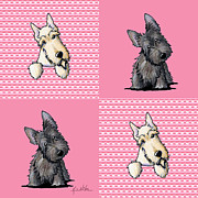 Scottish Terrier Prints - Scottish Quilt Print by Kim Niles