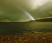 Jane Mcilroy Posters - Scottish Rainbow on Loch Fyne Poster by Jane McIlroy