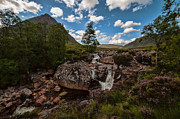 Munroe Photo Metal Prints - Scottish Scenery Glencoe  Metal Print by Walter Hampson
