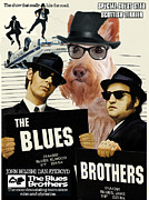 Scottish Terrier Art Canvas Print - The Blues Brothers Movie Poster Print by Sandra Sij