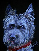 Grumpy Posters - Scottish Terrier Poster by Shirl Theis
