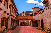 Scotty Posters - Scottys Castle Courtyard Poster by Robert Bales