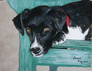 Puppies Pastels Posters - Scout Poster by Michele Turney