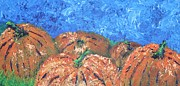 Pumpkins Paintings - Scraggly Pumpkins by Linda Eversole