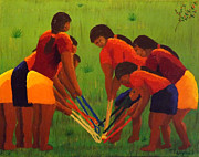 Stickball Prints - Scramble Fourth in Stickball Series Print by Tim Longwell