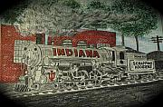 Kathy Marrs Chandler Art - Scrapping Hoosiers Indiana Monon Train by Kathy Marrs Chandler