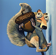 Scrat Of Ice Age Print by Paul  Meijering