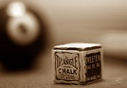 Sepia Chalk Posters - Scratch Shot Poster by Mark Schoenfelt