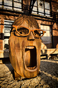 Wooden Sculpture Art - Screamer  by Sven Brogren