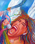 American Singer Paintings - Screamin Angel by To-Tam Gerwe