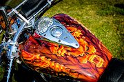 Honda Motorcycles Prints - Screaming Demons Bike Tank Print by David Morefield