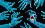 Screaming Posters - Screaming hands Poster by Ian Hufton