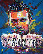 Basketball Painting Posters - Screw You Poster by Maria Arango