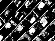 Squares. Linear Photos - Screwed Metal Tab Abstract by Chris Berry