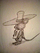 Poncho Drawings - Scribble Mouse by Steve Spagnola