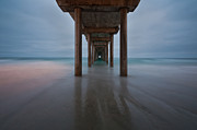 Shores Photos - Scripps Pier Soft Blue by Peter Tellone