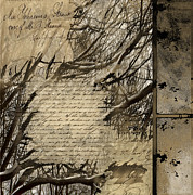 J.p. Mixed Media Prints - Script III Print by Yanni Theodorou