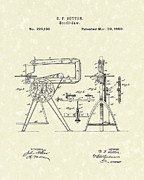 Saw Drawings Prints - Scroll-Saw 1880 Patent Art Print by Prior Art Design