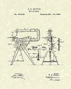Scroll-saw 1880 Patent Art Print by Prior Art Design