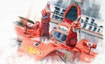 Watercolor Paintings - Scuderia Ferrari Marlboro F 2001 Ferrari 050 M Schumacher  by Yuriy  Shevchuk