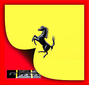 Stock Photo Digital Art - Scuderia Ferrari Symbol by Maj Seda