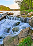 Water Flowing Prints - Sculpted Falls Print by Robert Harmon