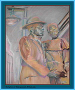 Decorating Pastels - Sculpture at Underground Atlanta by Keith OBrien Simms