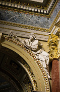 European Artwork Prints - Sculpture in the St Stephen Basilica in Budapest Print by Artur Bogacki