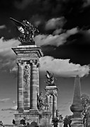 Sculptures Of Paris Print by Mountain Dreams