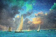 Sailboat Ocean Paintings - Scylla by Taylan Soyturk