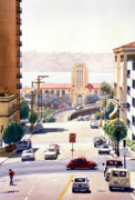 San Diego Paintings - SD County Administration Building by Mary Helmreich