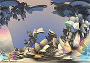 House Digital Art Originals - Sea acorns coffee. 2013 90/63 cm.  by Tautvydas Davainis