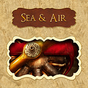 Sea Prints - Sea and Air button Print by Mike Savad