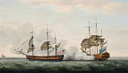 Sea Battle Print by Francis Holman