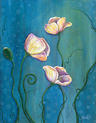 Dreamscape Metal Prints - Sea Blossoms Metal Print by Tanielle Childers