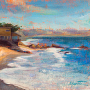 Malibu Painting Posters - Sea Breeze Poster by Athena  Mantle