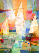 Sailboats Mixed Media - Sea Colors by Lutz Baar