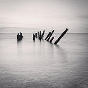 England Landscape Prints - Sea Defences Spurn Point Print by Colin and Linda McKie